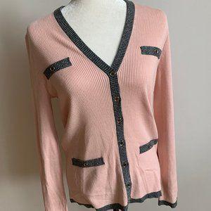 Karl Lagerfield New Sweater sz M cardigan